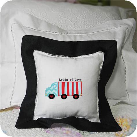Black Pillow Sham by Black Border 8x8 Pillow Sham