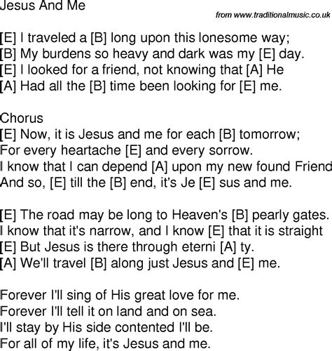 song for jesus time song lyrics with guitar chords for jesus and me e