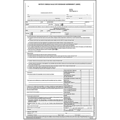 motor vehicle sales agreement template stunning vehicle agreement of sale contemporary resume