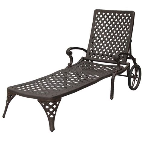aluminum chaise lounge patio furniture chaise lounge cast aluminum nassau