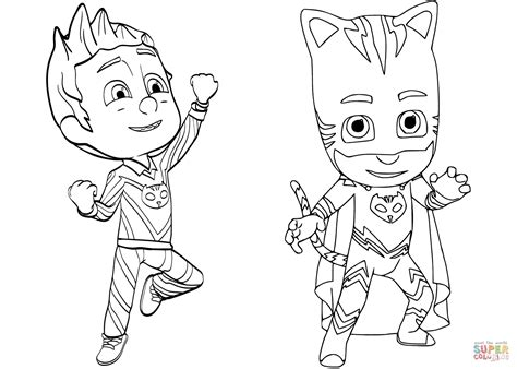 Pj Masks Blank Coloring Pages | pj masks coloring page printable printable coloring pages