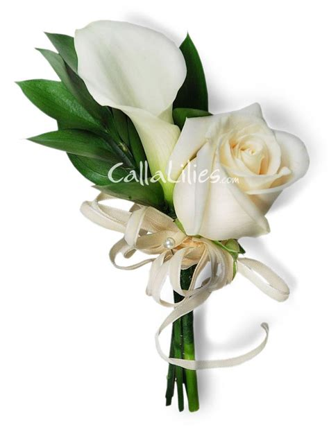 calla lily and rose boutonnieres corsages wedding