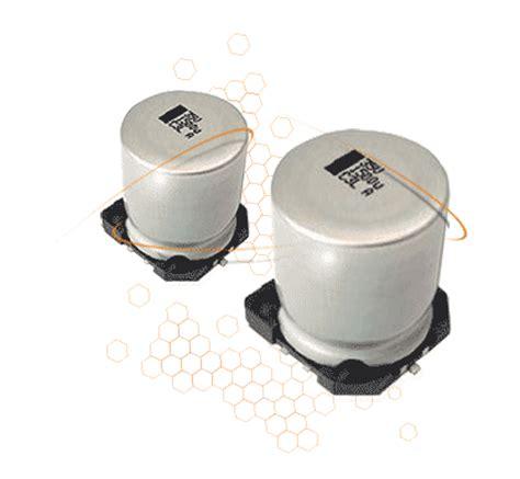 smd capacitor range vishay advanced temperature range low impedance smd aluminium capacitors farnell element14