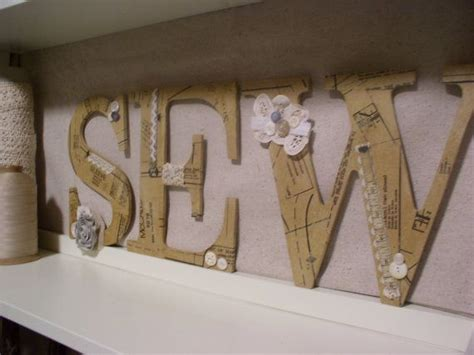 sewing room wall decor sew decoupaged letters for sewing room wall decor