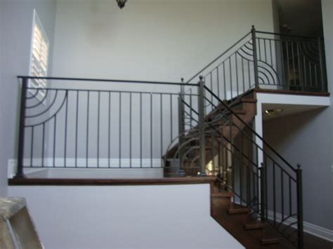 Rod Iron Banister Interior Railings Authentic Ironworks