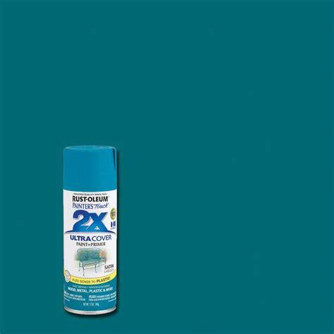 rust oleum painter s touch 2x 12 oz satin lagoon general