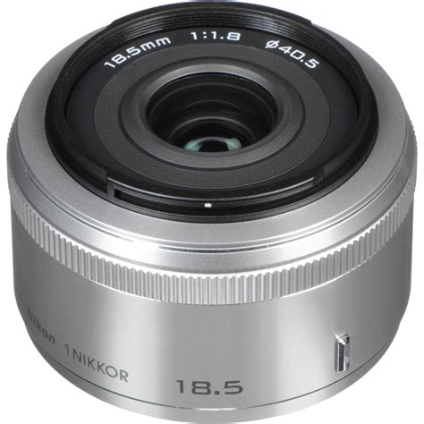 Nikon 1 Nikkor 18 5mm F 1 8 White nikon 1 nikkor 18 5mm f 1 8 lens silver 3325 b h photo