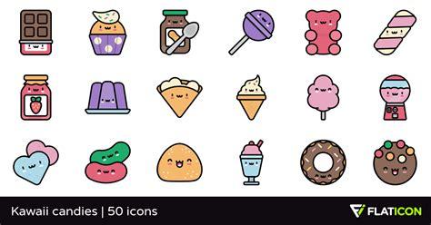 imagenes de rosquillas kawaii kawaii candies 50 gratis iconos archivos svg eps psd png