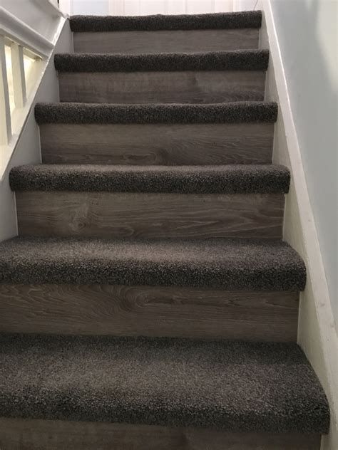 Stair case with laminate risers fit my floor