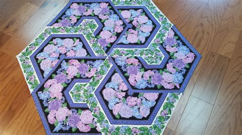 Sleepy Valley Quilt Company by Triangle Frenzy Hexagon Table Topper