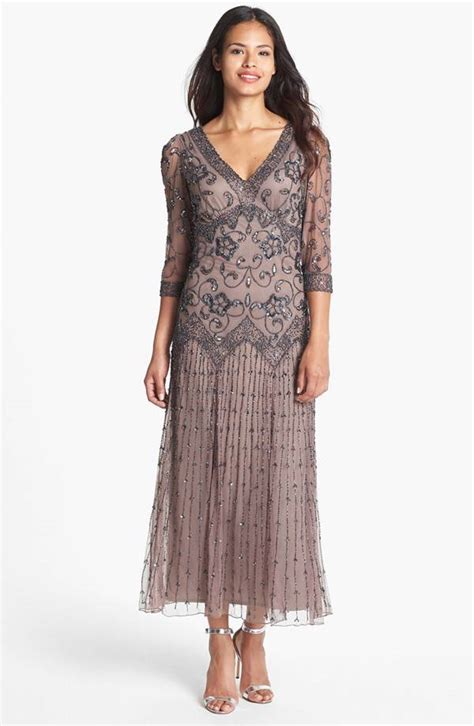 pisarro nights beaded mesh gown pisarro nights beaded mesh dress sz 14p