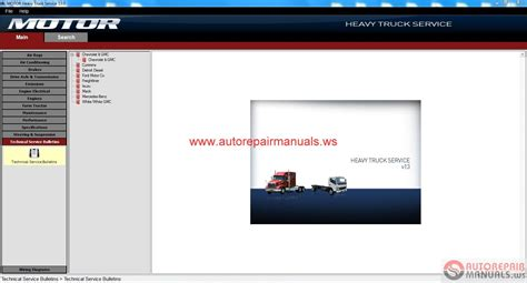 motor heavy truck service v 13 2013