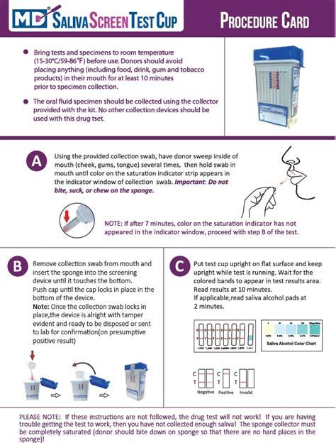 test saliva salivascreen fluids 6 panel test kit
