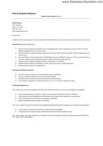 Peace Officer Cover Letter by Resume Sle For A Peace Officer