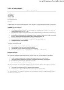 sergeant cover letter sle resume sergeant bestsellerbookdb
