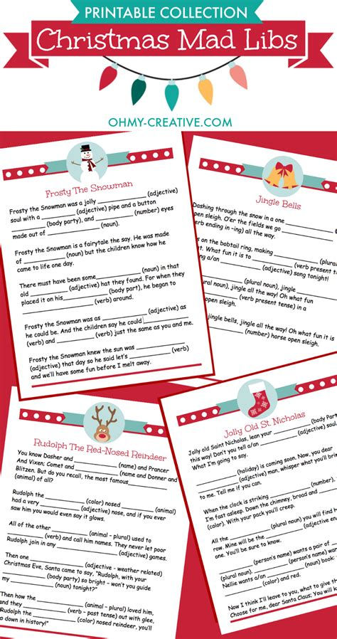 printable christmas mad libs night before christmas box printables mad creative and