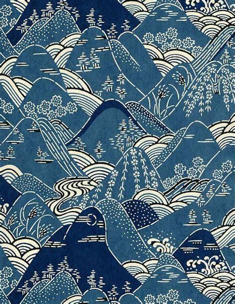kimono pattern design mountains japanese kimono pattern design early 20th