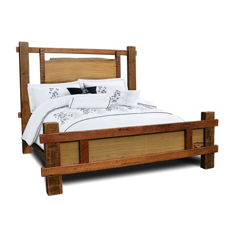 barnwood bed barnwood timber bed w sinker cypress panels