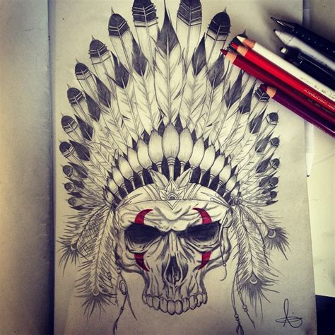 chief tattoo indian skull on instagram
