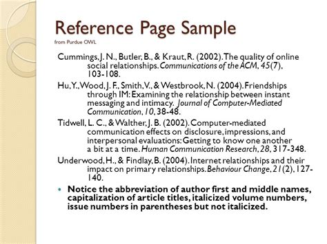 exle of a reference page for a research paper introduction to apa format american psychological