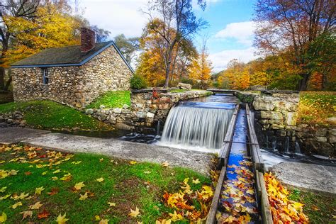 House Plans Online by Fall Scenic View Stone House With A Creek Photograph By