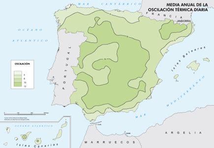 oscilacion termica clima mediterraneo espa 241 a a trav 233 s de los mapas