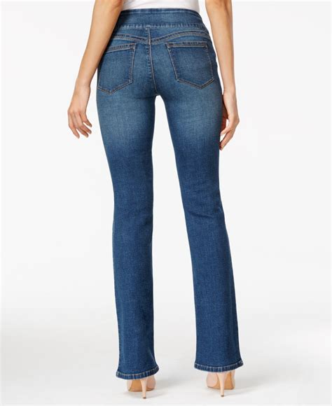 Style Co Denim T3010 1 style co pull on medium wash flared in blue lyst