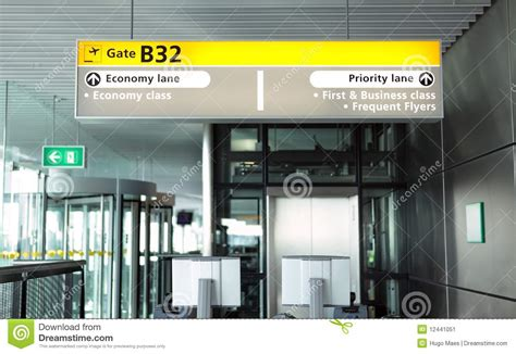 airport departure gate stock image image