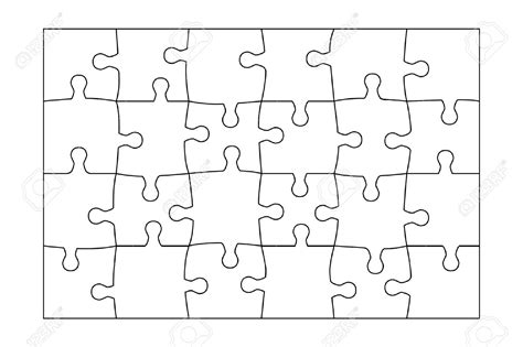 24 Puzzle Template 24 Piece Puzzle Template Google Search Teaching