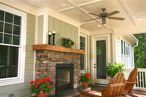 Porch Fireplace by Fireplace On Porch Home Outdoor Spaces