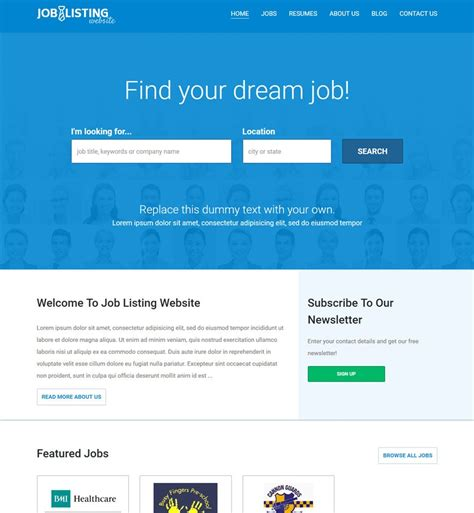design online job portal vevs job portal websites website builder