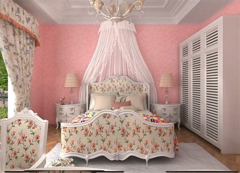 pink wallpaper for bedroom pink flower wallpaper for romantic pastoral style bedroom