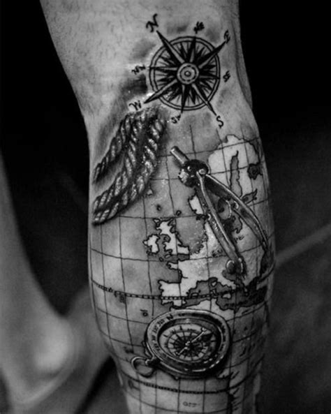 compass and map tattoo 110 best compass designs ideas and images