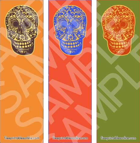 printable skull bookmarks colorful printable skull bookmarks free printables online