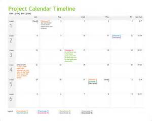 Free Project Calendar Template by 10 Calendar Timeline Templates Free Word Ppt Format