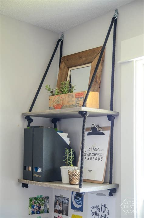 diy hanging shelves and farewell office lemon thistle