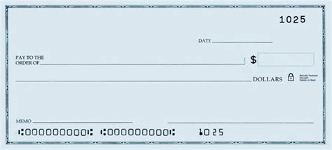 Blank Check Other Voices Medium Free Big Check Template