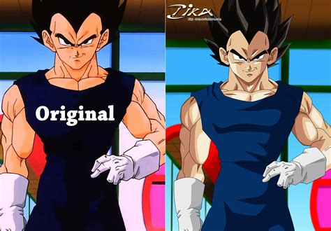 vegeta difference by zika arts on deviantart