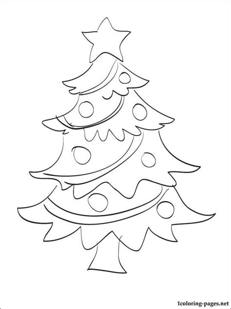 big coloring pages for christmas big tree coloring pages
