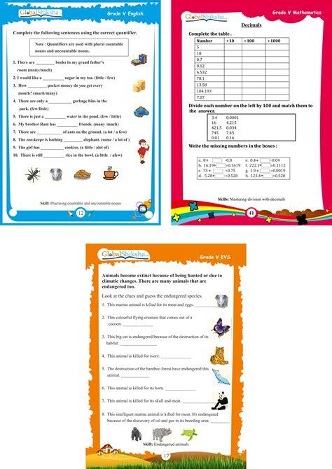 buy globalshiksha class 5 worksheets in india
