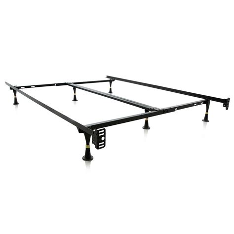 zinus compack adjustable metal bed frame hd sbf 12u the home depot