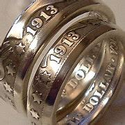 custom handcrafted coin rings  silver clad