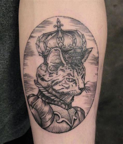 cat king tattoo king cat tattoo by rachel hauer tattoomagz