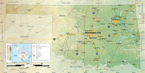 topographical map of oklahoma file oklahoma topographic map en svg wikimedia commons