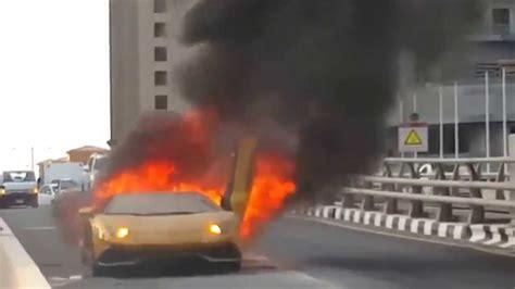 Lamborghini Brennt by Lamborghini Aventador Brennt Goes Up In Flames Youtube