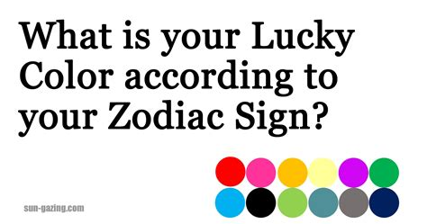 zodiac signs colors what is your lucky color according to your zodiac sign