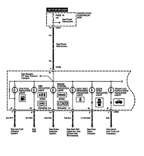 acura integra 1994 1996 wiring diagrams indicator