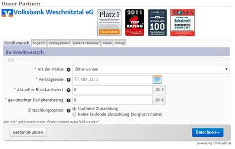 Autokredit Probezeit by Policendarlehen Testsieger Im Vergleich 10 2018 187
