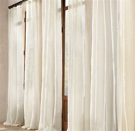 sheer linen drapery panels sheer belgian linen drapery beach house and garden