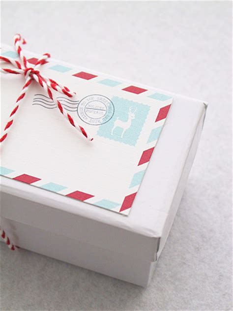 holiday mail stripes gift tag 187 eat drink chic